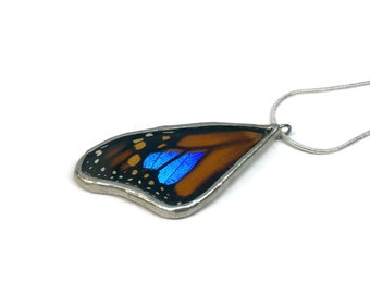 Real Butterfly jewelry, real butterfly pendant, insect jewelry, real Butterfly Wing, glass pendant, insect necklace, real butterfly necklace