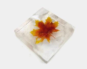 glass art, maple leave, glass art, glass leaves, home decor, art, glass paper weight, glass paper weight, Glass ornament, fused glass