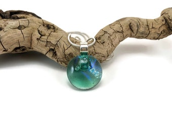 Glass Jewelry, Dichroic glass pendant, glass necklace, Glass Pendant, fused Glass Jewelry, handmade dichroic glass, fused glass pendant