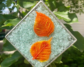glass art, glass sun catcher, home decor, fused glass, Fused Glass art, fused glass sun catcher, window art, fall, glass, ornament