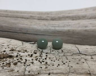 Dichroic Glass earrings, fused glass earrings, handmade dichroic glass, glass studs, dichroic glass stud earrings, glass,  Stud earrings