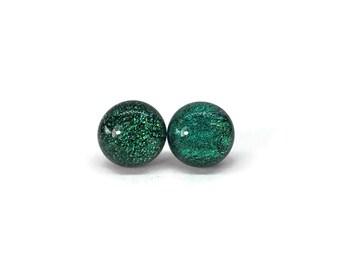 Fused glass studs, glass earrings, glass jewelry, fused glass earrings, Stud Earrings, Fused Glass Earrings, Fused Glass Jewelry, glass