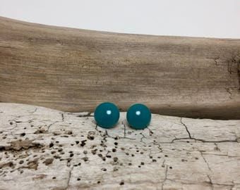 Fused Glass Earrings, Fused Glass Jewelry, Blue Stud Earrings, glass earrings, fused glass studs, fused glass, handmade fused glass