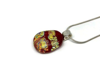 glass jewelry, Dichroic Glass Pendant, Dichroic glass pendant, Fused Glass Jewelry, Fused glass pendant, glass Necklace, Glass Pendant