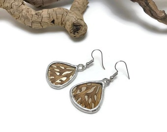 Real butterfly jewelry, Butterfly earrings, Insect jewelry, butterfly Wing Earrings, insect jewelry, Glass Earrings, real butterfly wing