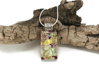 Fused Glass Jewelry, glass pendant, glass necklace, Glass Jewelry, fused glass, handmade dichroic glass, fused glass pendant, glass