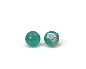 Glass studs, glass jewelry, handmade fused glass, studs, glass earrings, Fused glass, fused glass earrings, Fused Glass stud earrings