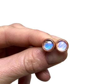 Butterfly studs, handmade butterfly earrings, studs, stud earrings, glass, real butterfly earrings, button earrings, butterfly, jewelry
