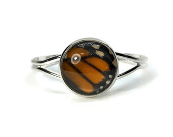 Real Butterfly Wing, butterfly bracelet, butterfly jewelry, insect jewelry, glass jewelry, insect bracelet, glass bracelet, cuff bracelet