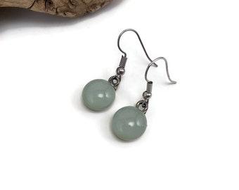 Glass jewelry, glass earrings, dangle earrings, fused glass jewelry, dichroic glass earrings, fused glass earrings, Dangle Glass earrings
