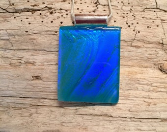 Dichroic glass jewelry, Dichroic Glass Pendant, Fused Glass Jewelry, dichroic glass necklace, glass pendant, glass jewelry, glass necklace