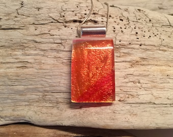 Dichroic glass jewelry, Dichroic glass necklace, Dichroic Glass Pendant, Fused Glass Jewelry, fused glass pendant, glass pendant, glass