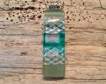 Dichroic Glass jewelry, dichroic glass pendant, glass pendant, fused glass jewelry, dichroic glass necklace, fused glass pendant, glass