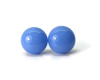 Dichroic Glass earrings, fused glass earrings, handmade dichroic glass, glass studs, dichroic glass stud earrings, glass,  Stud earrings