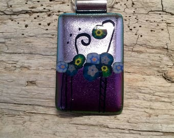 Dichroic glass pendant, dichroic glass jewelry, Glass, Fused Glass Jewelry, glass pendant, Dichroic glass Necklace, Dichroic Glass