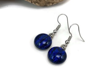 Dichroic glass jewelry, fused glass earrings, dichroic glass earrings, glass earrings, glass jewelry, dangle earrings, fused glass jewelry