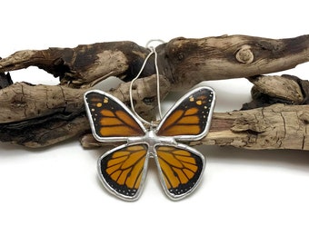 Real Butterfly Necklace, butterfly,insect jewelry, handmade, monarch Pendant, Handmade butterfly pendant, butterly wing, monarch butterfly