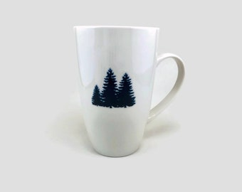 Coffee mug, tea cup, porcelain cup, home decor, coffee cup, mug, tree themed mug, handmade mug, home decor, tea mug
