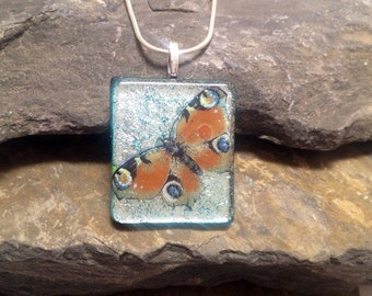 Glass jewelry, handmade glass pendant, glass jewels, fused, dichroic glass, necklace, fused dichroic pendant, gift,  fused glass pendant,