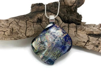 Fused Glass Jewelry, Dichroic glass, pendant, necklace, Glass Pendant, Glass Jewelry, handmade dichroic glass, glass pendant, glass