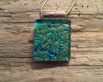 Dichroic glass pendant, dichroic glass jewelry, dichroic glass, fused glass, handmade fused glass, glass jewelry