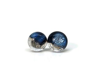 Glass earrings, fused glass studs, minimalist earrings, Unique gifts for her, fused glass earrings, glass studs, best friend gifts