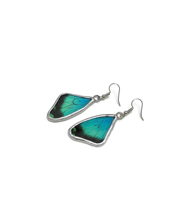 butterfly jewelry, unique gifts for her, butterfly earrings, jewelry for her, unique gifts for mom, Statement jewelry, Real Butterfly Wing