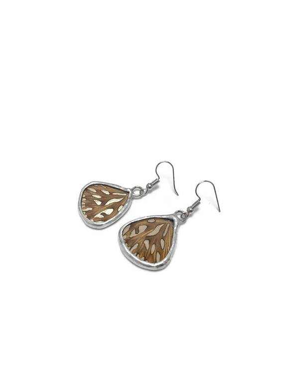 Real butterfly earrings, bridesmaid jewelry, Unique jewelry, real butterfly wing, gifts for mom, real insect jewelry, Butterfly taxidermy