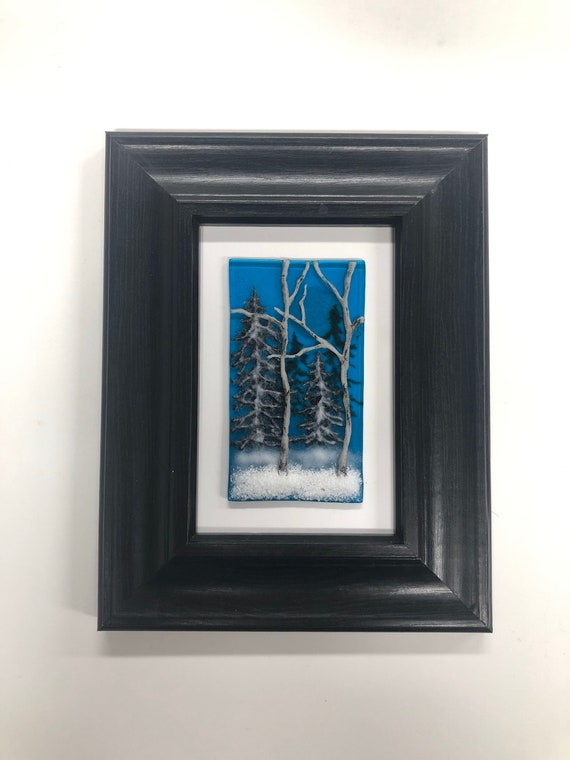 Glass art, Fused Glass art, unique art, glass wall art, glass sculpture, glass home decor, fused glass panel, scenery art, unique gifts