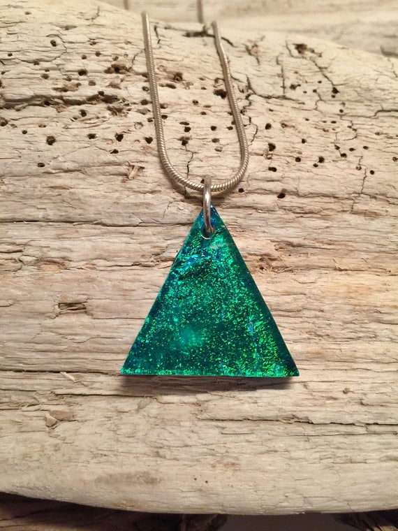 Fused glass jewelry, fused glass necklace, Dichroic Glass Pendant, dichroic glass jewelry, Fused Glass Pendant, glass pendant, glass jewelry
