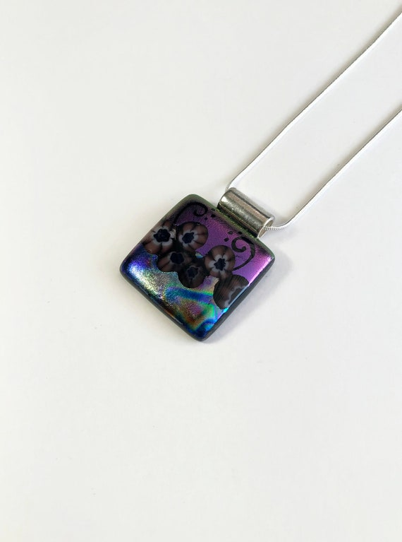 Fused glass necklace, statement jewelry, fused glass jewelry, gifts for her, glass necklace, bridal jewelry, glass pendant, gifts for mom