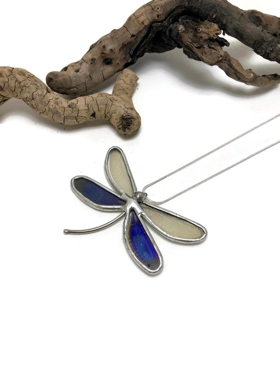 Unique jewelry, Real butterfly necklace, dragonfly jewelry, real butterfly jewelry, real butterfly wing, dragonfly pendant, insect jewelry