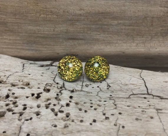 Glass earrings, minimalist earrings, fused glass earrings, Unique gifts for her, dichroic glass studs, unique jewelry, glass jewelry, gifts