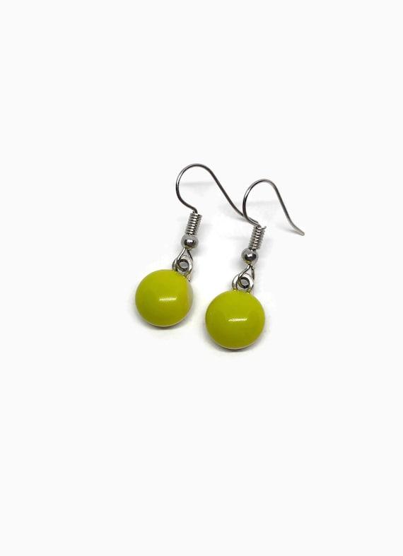 glass earrings, Unique earrings, dichroic glass earrings, minimalist jewelry, jewelry for her, fused glass earrings, unique gifts for mom