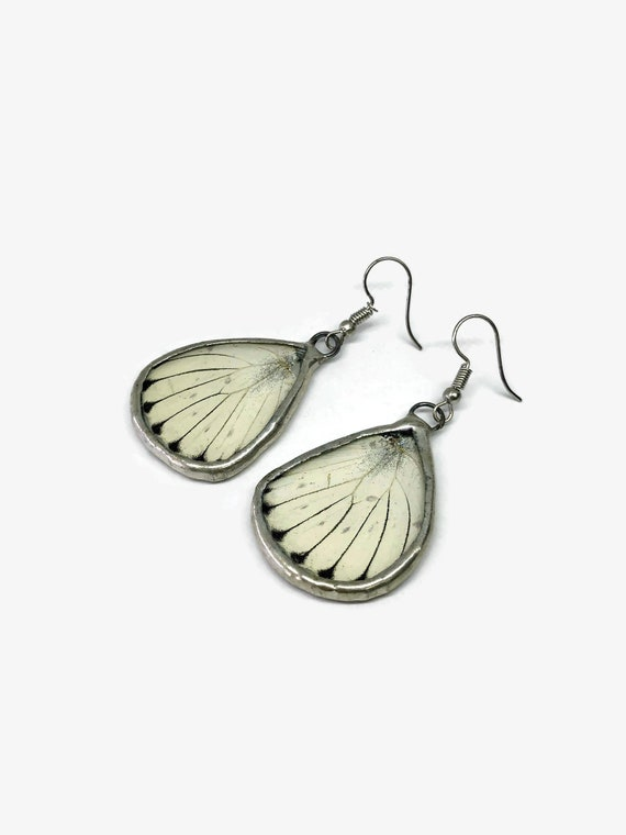Real Butterfly jewelry, real butterfly wing, real butterfly earrings, glass earrings, real insect jewelry, insect earrings, Glass earrings
