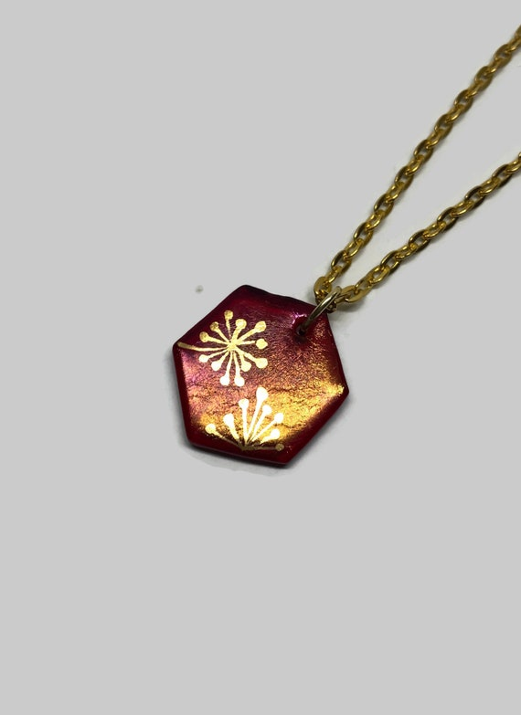 glass jewelry, geometric Jewelry, Dichroic Glass and gold Pendant, Unique jewelry, Fused Glass Pendant, glass necklace, unique gifts for her