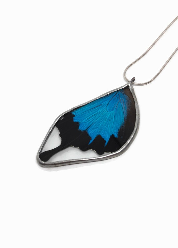 butterfly necklace, unique gifts, statement jewelry, unique gifts for mom, real butterfly wing, butterfly pendant, insect pendant, gifts