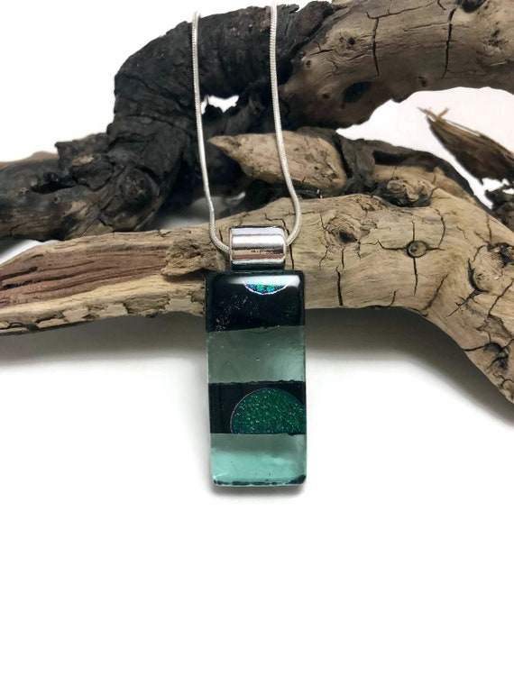 Dichroic Glass Jewelry, Unique gifts,Dichroic glass pendant, glass necklace, Glass Pendant, Fused Glass Jewelry, fused glass pendant, glass