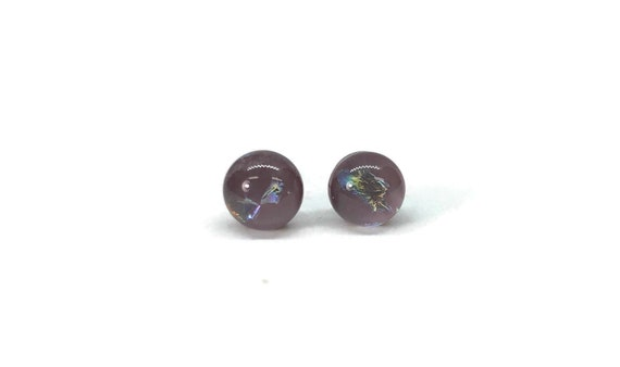 Dichroic Glass earrings, fused glass earrings, fused glass jewelry,  unique jewelry, glass studs, gifts for her, glass jewelry, glass art