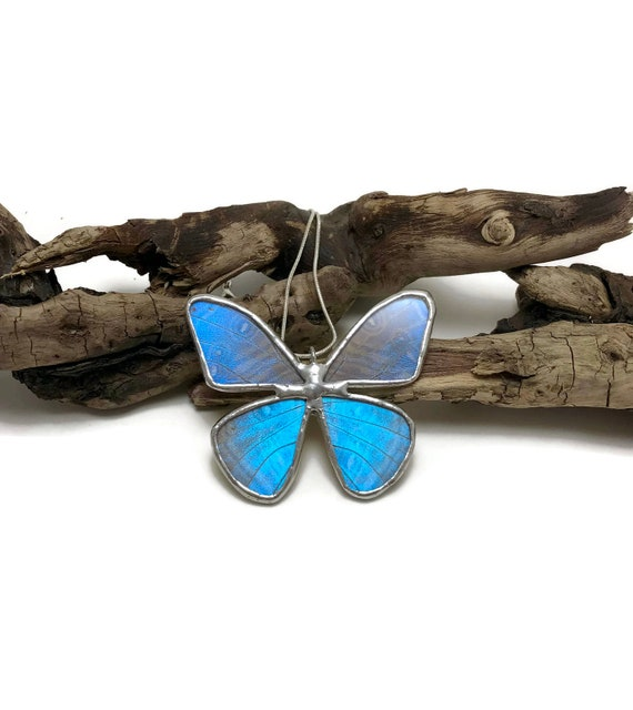 Butterfly jewelry, gifts for her, Real Butterfly Wing, Unique gifts, butterfly Necklace, Blue Morpho Pendant, butterfly taxidermy, gifts