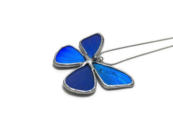 butterfly jewelry, Unique jewelry, butterfly gifts, Real Butterfly Wing, gifts for mom, jewelry for her, blue morpho, insect pendant, gifts