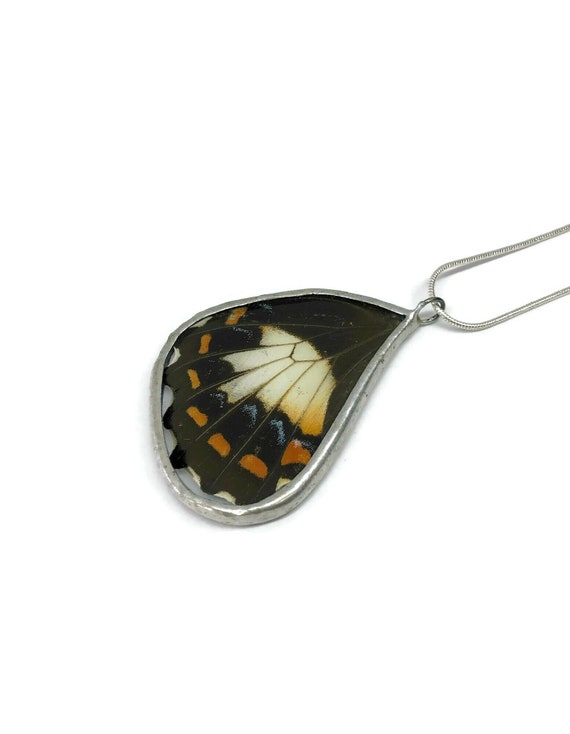 Real Butterfly Necklace, statement jewelry, real butterfly wing, Unique jewelry, butterfly jewelry, butterfly pendant, Unique gifts for her