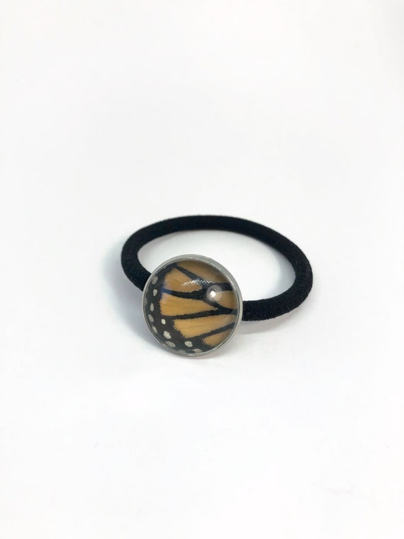 Monarch butterfly, butterfly Hair tie, unique gifts for her, butterfly wing taxidermy jewelry,butterfly lover