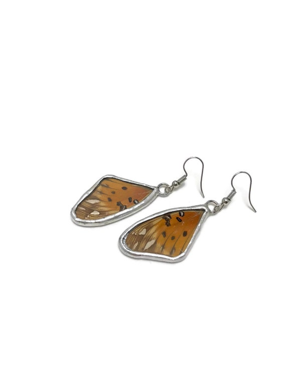 butterfly earrings, bridal jewelry, Unique jewelry, real butterfly wing, gifts for mom, insect jewelry, Butterfly taxidermy, birthday gifts