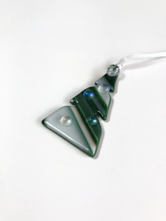 Christmas ornament, fused glass ornament, Unique gifts, tree ornament, unique art, unique gifts for her, Christmas decor, unique gifts