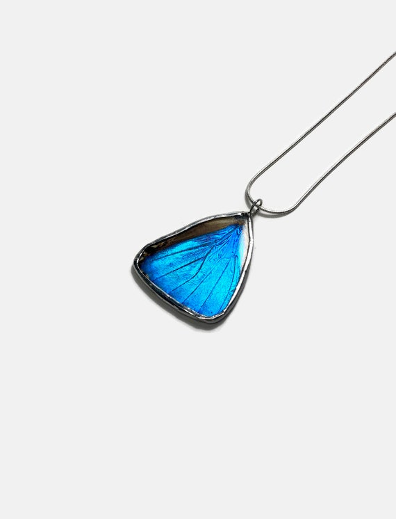 Butterfly jewelry, Unique Jewelry, gifts for her, real butterfly pendant, Real Butterfly Wing, Blue Morpho Pendant, butterfly taxidermy
