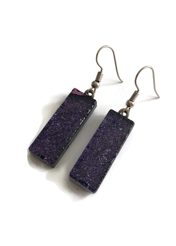 dichroic Glass earrings, unique jewelry, glass earrings, unique jewelry, fused glass earrings, glass jewelry, dichroic glass jewelry, glass