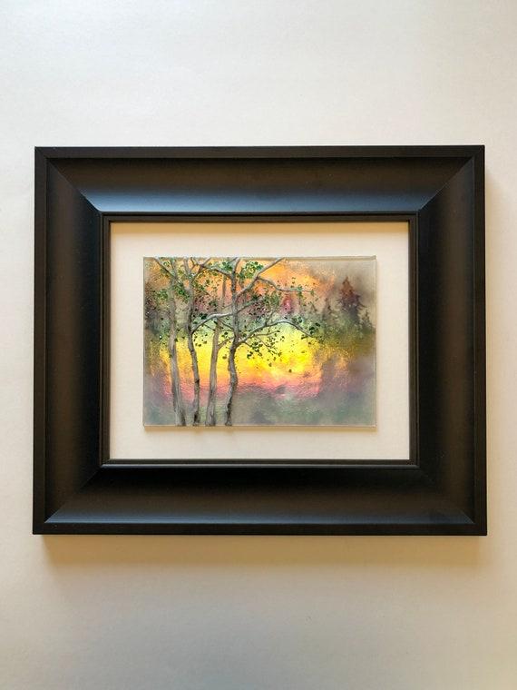 Fused Glass art, Unique art, glass wall panel, Birthday gifts, home decor, wildlife art, glass wall art, glass sculpture, modern wall art