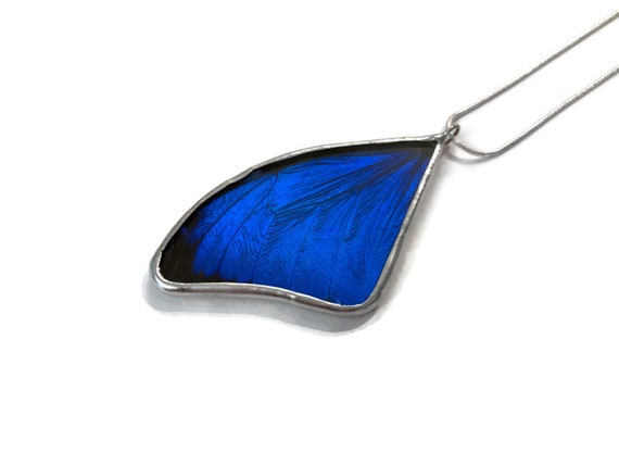 Butterfly necklace, unique jewelry, butterfly pendant, gifts for mom, real butterfly wing, unique gifts for her, butterfly taxidermy, gifts