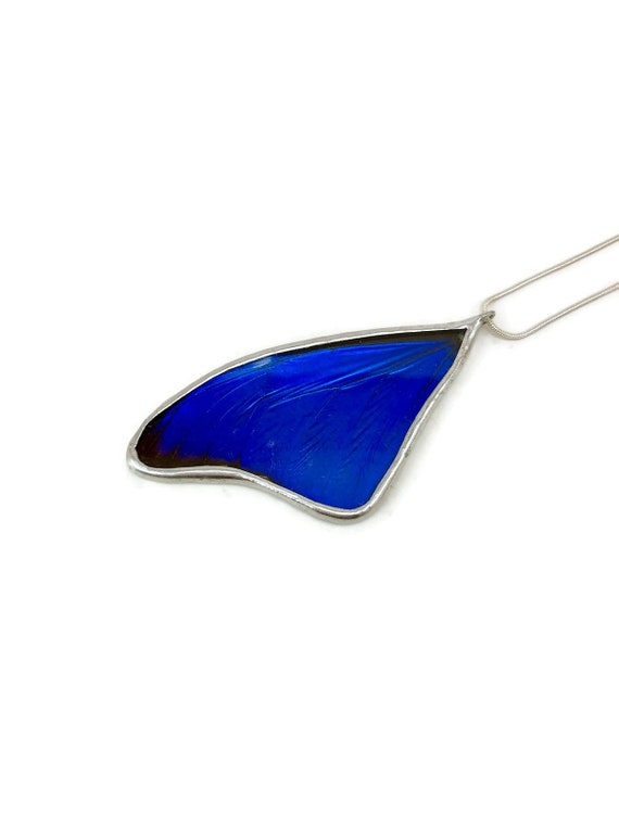 Real Butterfly, butterfly Wing Necklace, insect jewelry, real butterfly jewelry, butterfly pendant, Blue Morpho butterfly, glass jewelry
